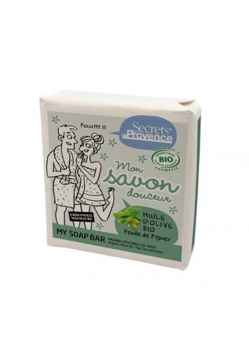 Mon savon douceur huile d'olive et feuille de figuier