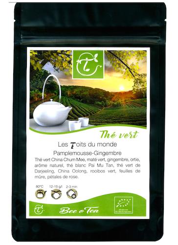 Thé bio - Les Toits du Monde - Pamplemousse & Gingembre