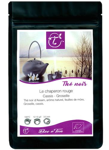 Thé noir bio - Le Chaperon Rouge - Cassis & Groseille